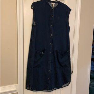 Eileen Fisher denim dress size Medium
